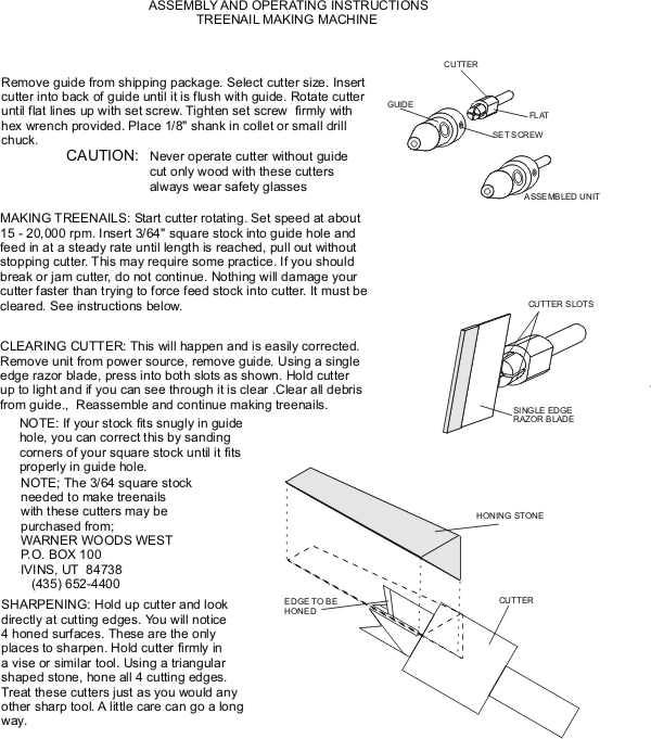 Treenail Instructions