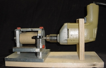 drill press sanding drum. above is a simple and inexpensive way to power up your hog thickness sander. use any reversing 3/8\u201d or 1/2\u201d drill motor.they are almost impossible stall drill press sanding drum